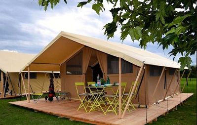 Photo for Camping Les Plages de L'Ain *** - Tent 3 Rooms 4 People (without sanitary)