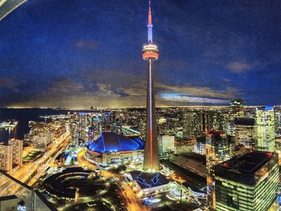 Photo for ICE Condo, CN Tower, Rogers Centre and Lake Ontario 180° unobstructed views