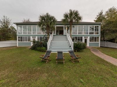 Photo for 6500 SF Waterfront Beach House Style, includes 2400 SF Sports Bar