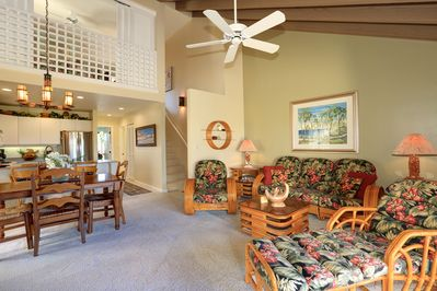 Bright vaulted living room