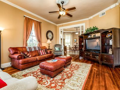 Photo for Two-story Galveston getaway w/enclosed yard-close to town & beaches