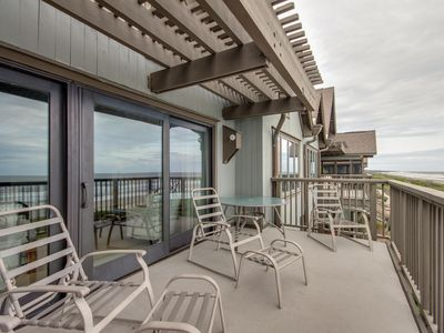 Photo for Oceanfront villa w/ large sun deck & gourmet kitchen - just steps from beach!