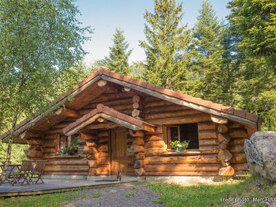 Photo for Beautiful log cabin in La Bresse, ideal family, wifi, quiet, terrace