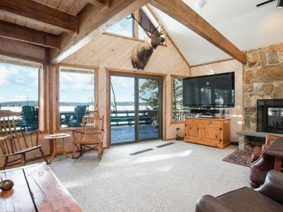Photo for Stunning waterfront home w/views of Becky's Garden & Beaver Island; 40' boat dock