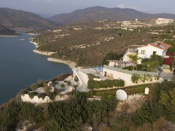 Unique cliff top site. Lake and mountain views, Limassol seafront 15min by car.