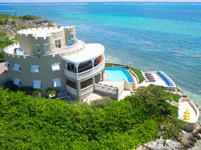Cayman Castle: Luxury Gated Estate with Elevated Views, Infinity Pool and Large Private Beach