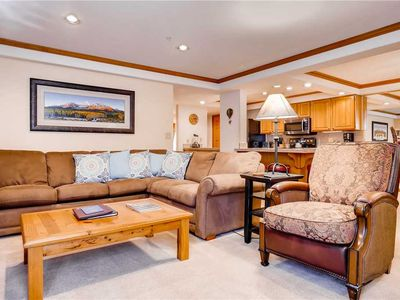 Photo for Wonderful ski-in / ski-out slopeside condo with view of Mt. Werner & resort amenities