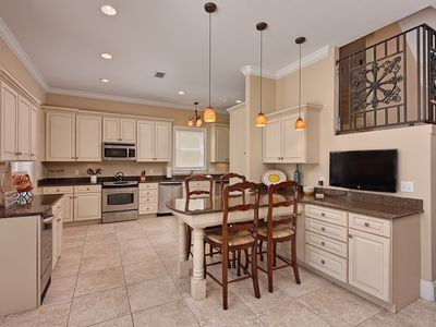 Fully Equipped Gourmet Kitchen with Two Dishwashers and Ice Machine