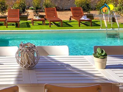 Photo for Wonderful villa with pool few minutes driving from the beach of Mondello