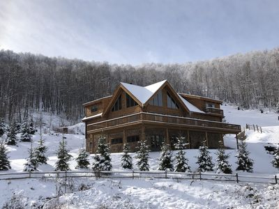 Photo for Luxurious Ski in/out house on Windham Mountain, new build, direct slope access.
