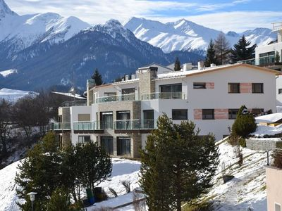 Photo for Scuol Apartment, Sleeps 4 with WiFi