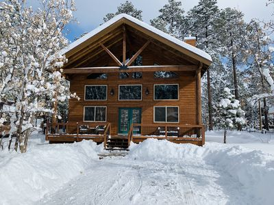 Photo for Beautiful Newely Built Cabin with Eligant but Cozy finishes