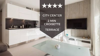 Photo for ✌ Cannes City Center ✌ Ultra-modern 1-bedroom apartment with terrace