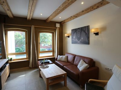 Photo for 2017 ecologically renovated, high quality furnished cottage with yard.