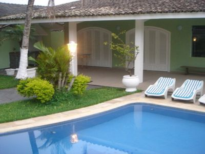 Photo for House in Guaiúba Beach, about 200 m from the sea, 4 qtos, with swimming pool and barbecue