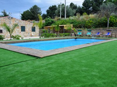 Photo for Farmhouse surrounded by greenery with swimming pool