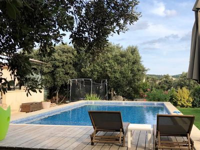 Photo for Villa 180 m2 on 1400 m2 closed, clim, swimming pool 5x10 in peace, close Montpellier
