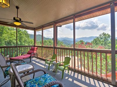 Photo for Cozy Bryson City Home w/ Hot Tub & Mountain Views!