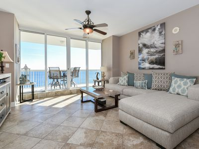 Photo for BEACHFRONT condo w/views from PRIVATE BALCONY! UPDATED coastal theme throughout!
