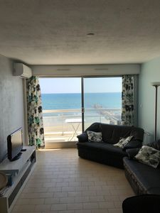 Photo for apartment first line 2 balconies calm sea view ideal family with children