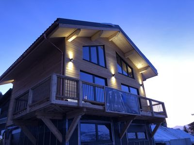 Photo for Brand new Chalet La Plagne-Les Coches with superb views of Mont Blanc