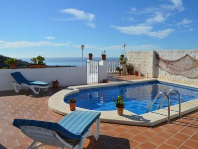 Photo for This 2-bedroom villa for up to 4 guests is located in Torrox / Torrox Pueblo and has a private swimm