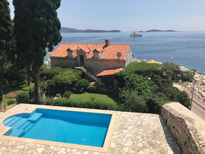 Photo for Dubrovnik's exclusive 16th century seaside villa with swimming pool