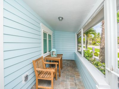 Photo for Tropical Breeze Resort - Large 1 Bedroom Suite w/ Full Kitchen. Located in Siesta Key Village. Steps to Siesta Key Beach. Private Screened Patio w/ Gulf View. Courtyard Views. AMAZING AMENITIES INCLUDED