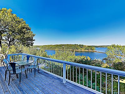 Photo for New Listing! Hilltop Waterfront Retreat w/ Stunning Views - Near Beach