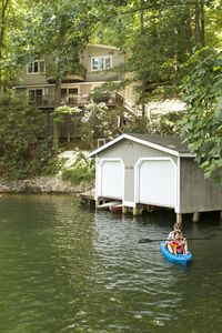 Photo for Lakefront Mountain Getaway.  Quiet cove perfect for water activities, fire pit.