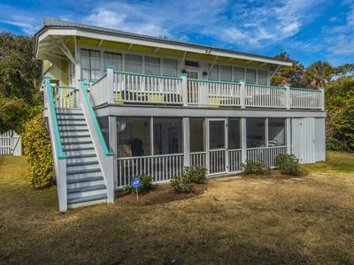"""Photo for """"Good Golly, Miss Folly""""! 50 steps to beach from house, hammocks, outdoor shower"""