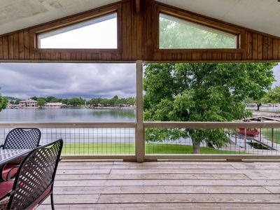 Photo for The fish are calling! Stay in this Waterfront Home on Lake LBJ w/free wifi, Dock, Deck & Pool Table