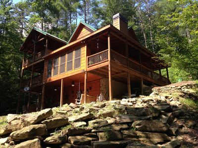 Photo for Waterfront Mountain Retreat with year around Trout Fishing.