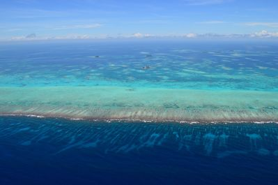 Gladden from over the barrier reef