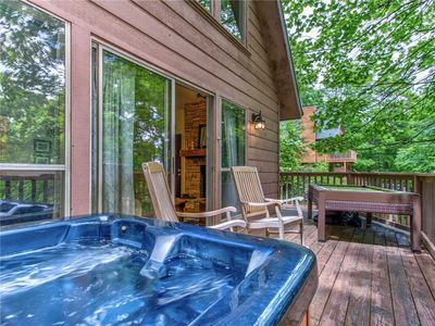 Come on In! - The water is perfect in the hot tub. After all, vacation is all about relaxation.