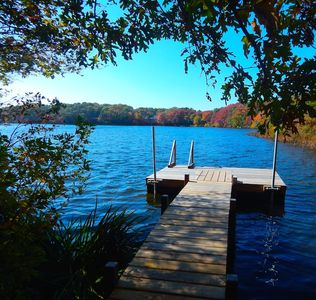 Enjoy your own private dock on the pond. No beach area but easy access to launch a canoe or kayak (bring your own or let us help you rent one!) - 5 Ocean Street South Harwich Cape Cod New England Vacation Rentals