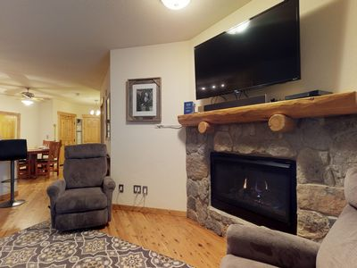 Photo for Cozy condo w/ shared hot tub, private deck, & great location close to the slopes