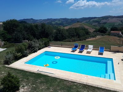 Photo for Villa with pool 15 km from the sea, wifi, air conditioning, panoramic.