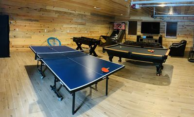 Photo for Luxury Remote Cabin on the national forest, HUGE Game room, Hot Tub & more