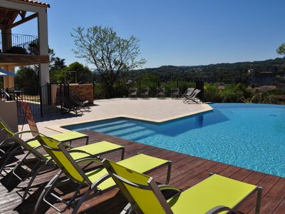 "Photo for Holiday cottage ""Gorges de l'Ardéche"" in a residence with swimming pool"