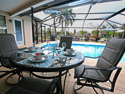 Photo for Perfect vacation getaway! Great location! Pool. On a wide gulf access canal.