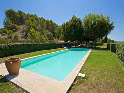 Photo for Large 5 bedroom house with stunning views, near Roussillon