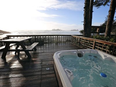 Photo for beachfront home with hot tub
