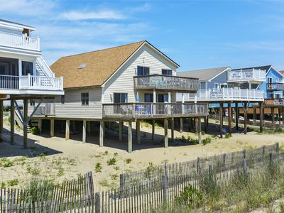 Photo for FREE DAILY ACTIVITIES!  This classic ocean front family vacation beach house sits right on the beach offering incredible ocean views and gorgeous sunrises!