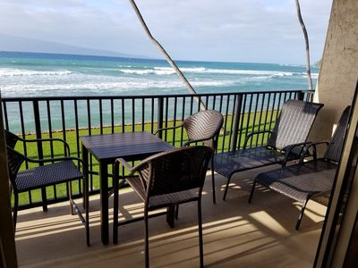 Photo for 1 Bed Oceanfront:Go to Sleep With the Sound of Waves!