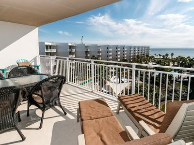 """Photo for """"Waterscape Unit C604"""" Water Wonderland/Lazy River/Waterfalls!! Courtyard and Gulf Views!!"""