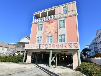 Photo for TROPICAL BEACH CASTLE! Ocean View Sky Deck * Grills * Private Pool & Game Room!