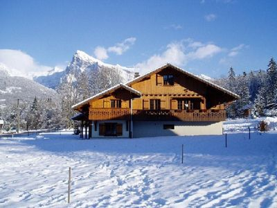 Photo for Apartment in Chalet Elisabeth Morillon - Grand Massif - 2 steps from the slopes