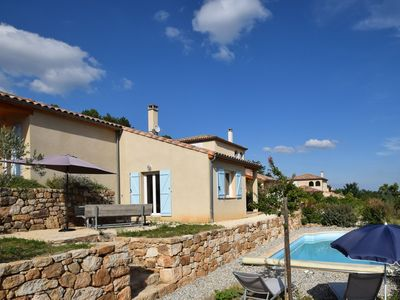 Photo for Lovely holiday villa with private swimming pool and magnificent view in Ardeche