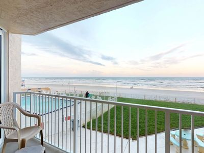 Photo for Waterfront condo w/ an ocean view - walk to the beach & shopping!